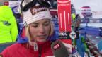 Video «Ski alpin: Lara Gut am Weltcup in St. Moritz» abspielen