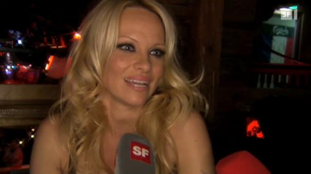 Mit Pamela Anderson in Zürich