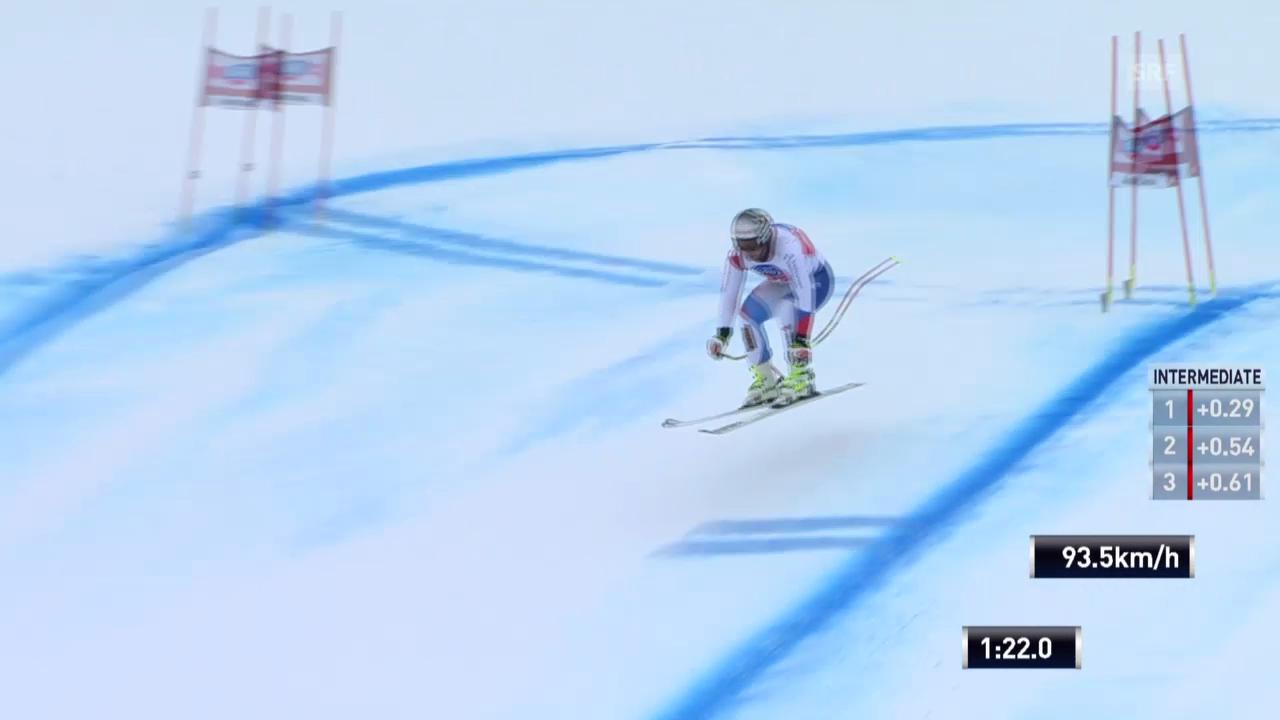 Ski: Fahrt von Feuz im Gröden-Super-G («sportlive» vom 20.12.13)