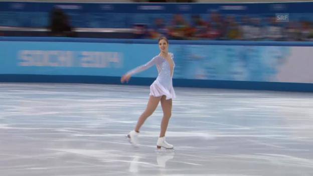 Video «Eiskunstlauf: Das Kurzprogramm von Carolina Kostner (sotschi direkt, 19.02.2014)» abspielen