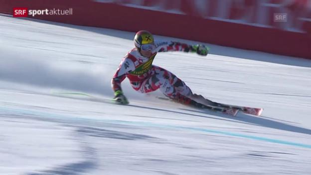 Video «Ski: Riesenslalom der Männer in Kranjska Gora» abspielen