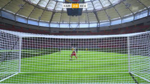 Video «Fussball: Frauen-WM, Kamerun-Ecuador» abspielen