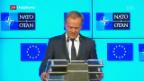 Video «Donald Trump am NATO-Gipfel» abspielen