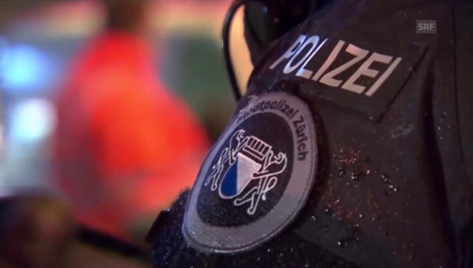 Polizeieinsatz beim Letzigrund (unkommentiert)