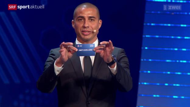Video «Fussball: EURO 2016 in Frankreich, die Gruppenauslosung» abspielen