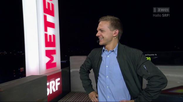 Video «Meteo-Moderator für einen Tag: Mauro Hermann» abspielen
