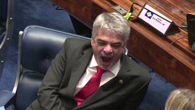 Video «Das grosse Gähnen im Senat von Brasilien» abspielen