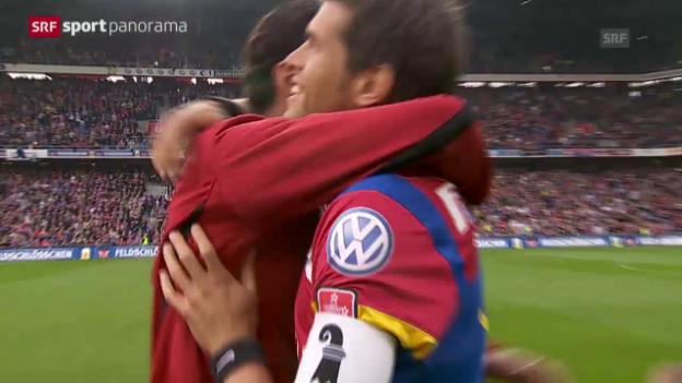 Video «Fussball: Marco Streller im «sportpanorama» über den Abschied von Benjamin Huggel» abspielen