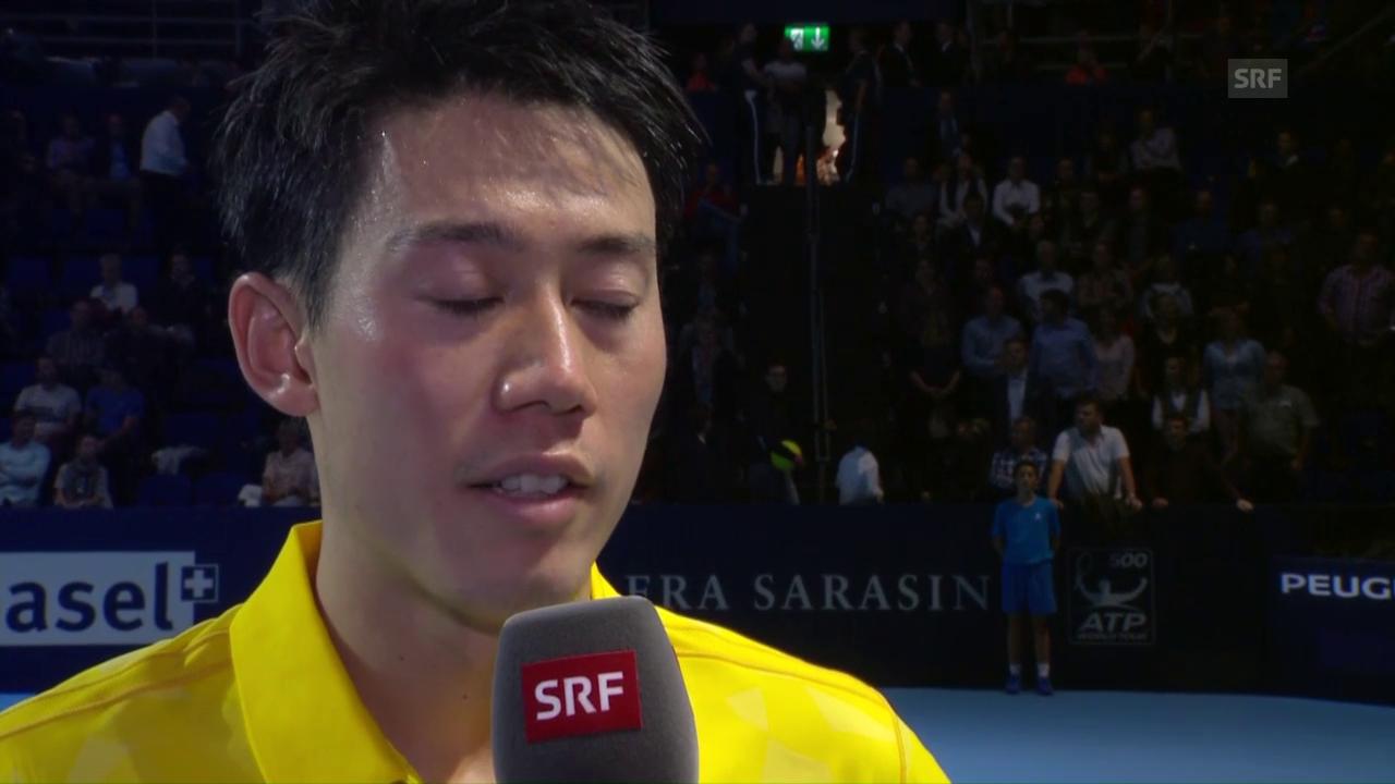 Nishikori: «Ich musste einfach ruhig bleiben» (Englisch)