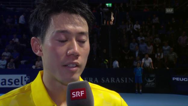 Video «Nishikori: «Ich musste einfach ruhig bleiben» (Englisch)» abspielen