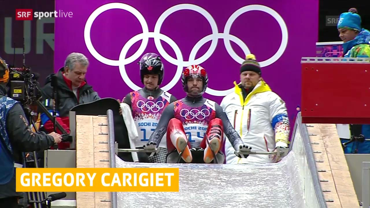 Rodeln, Rücktritt Gregory Carigiet