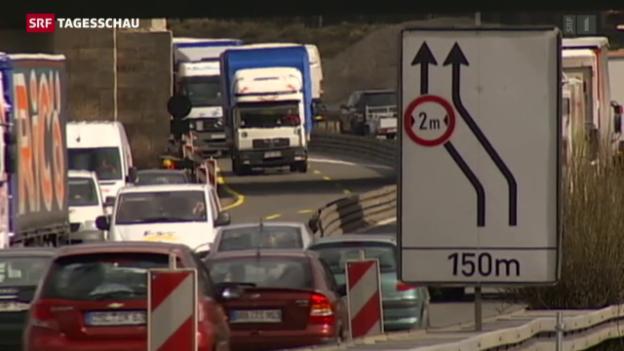 Video «Schwerverkehrsabgabe wird erhöht» abspielen