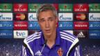 Video «Fussball. Champions League: Paulo Sousa will mutigen Auftritt sehen» abspielen