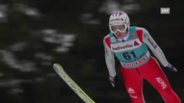 Skispringen: 2. Sprung von Simon Ammann
