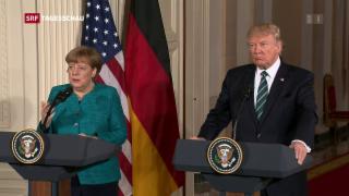 Video «Merkel zu Besuch bei Trump» abspielen
