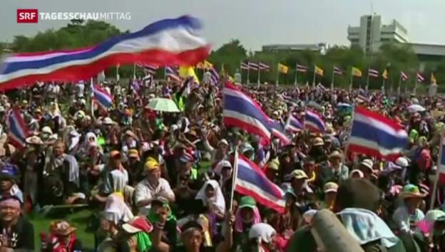 Video «Thailands Regierung setzt auf Deeskalation» abspielen