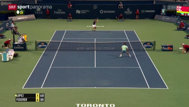 Video «Tennis: Roger Federer schlägt Feliciano Lopez in Toronto» abspielen