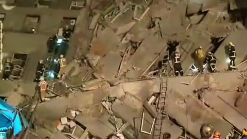 Rettungsarbeiten in Taiwan (unkommentiert)