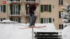 Video «Treppengeländer und Tiefgarage statt Piste» abspielen