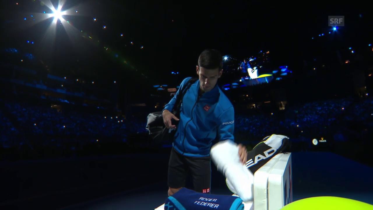 Tennis: ATP Finals, Federer - Djokovic, falsche Tücher