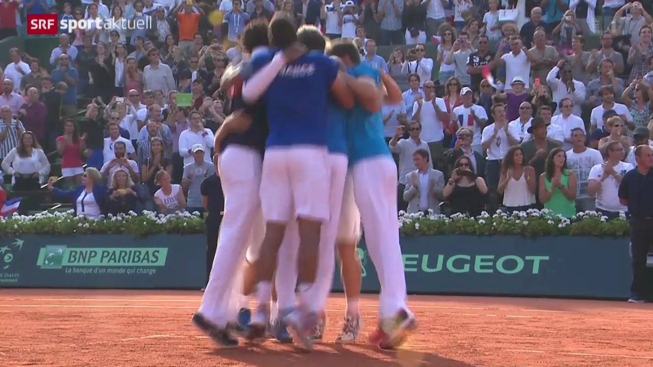Tennis: Davis Cup, Frankreich im Final