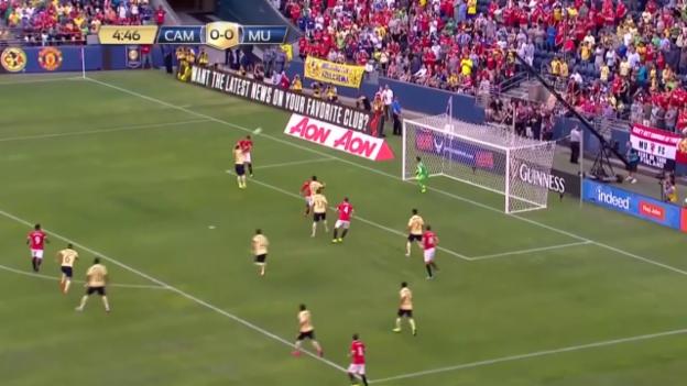 Video «Fussball: Testspiel Manchester United - Club America» abspielen