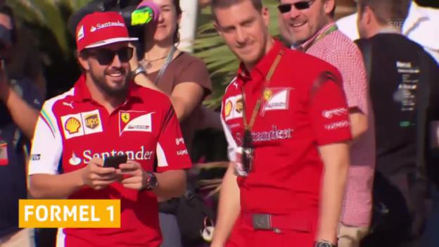 Video «Formel 1: Ferrari: Sebastian Vettel kommt, Fernando Alonso geht («sportaktuell»)» abspielen