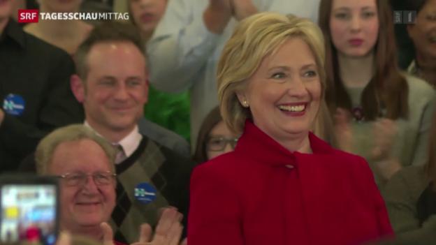 Video «Hilary Clinton gerät unter Druck» abspielen