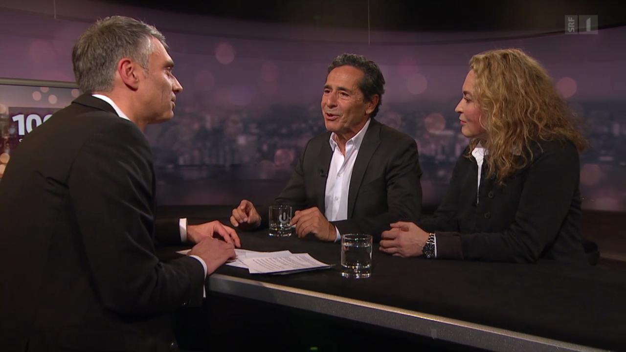 Roger Schawinski und Gabriella Sontheim im Gespräch mit Sandro Brotz