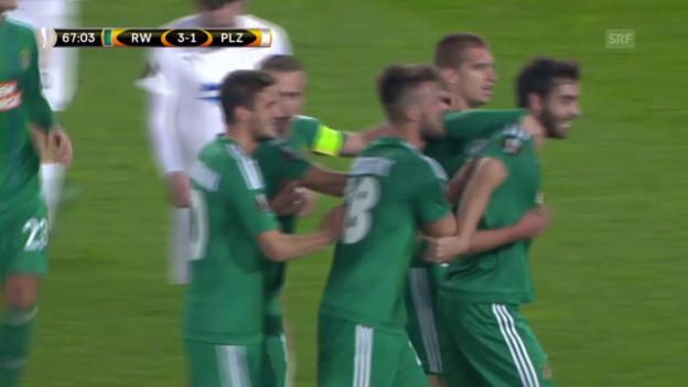 Video «Fussball: Europa League, Zusammenfassung Rapid Wien - Viktoria Pilsen» abspielen