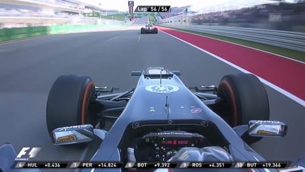 Video «Formel 1: Schlussphase beim GP der USA» abspielen