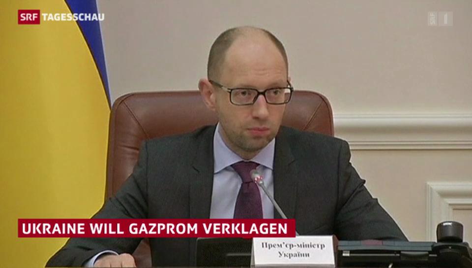 Ukraine will Gazprom verklagen