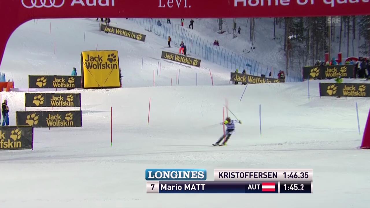 Ski Alpin: Der 2. Lauf von Mario Matt