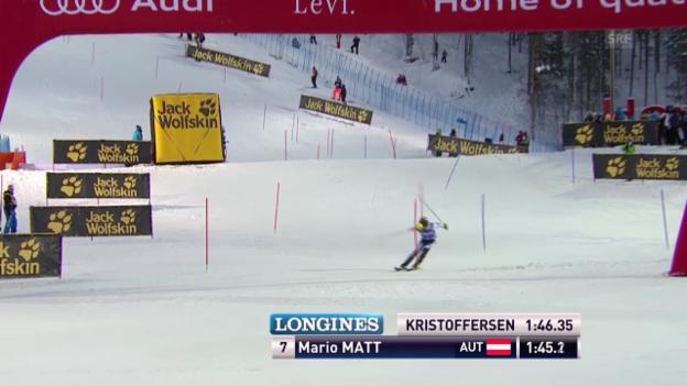 Video «Ski Alpin: Der 2. Lauf von Mario Matt» abspielen