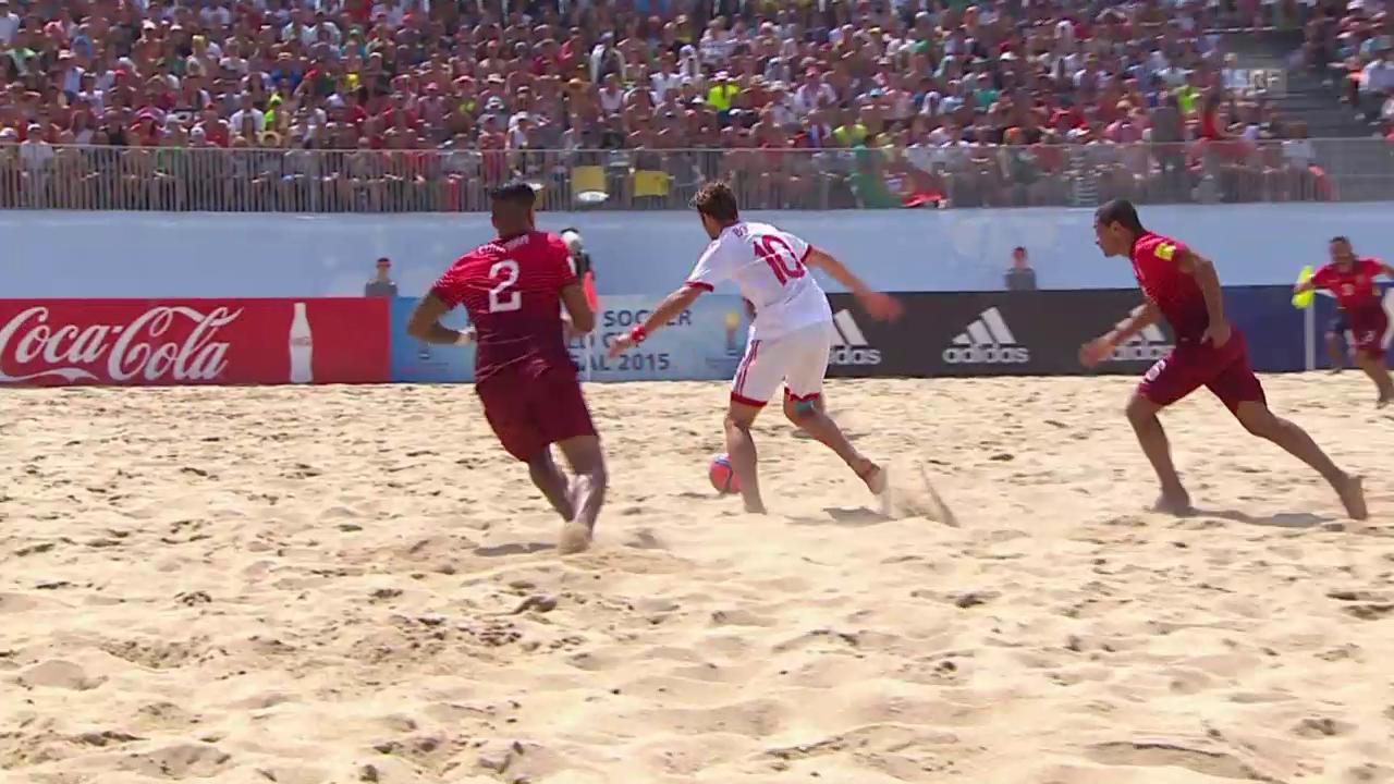 Beachsoccer: Portugal - Schweiz, 1:1 Schweiz