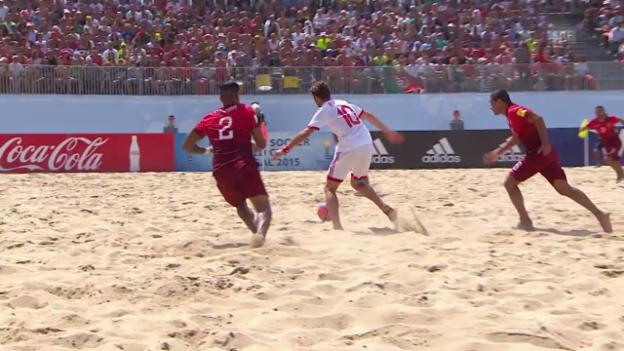 Video «Beachsoccer: Portugal - Schweiz, 1:1 Schweiz» abspielen