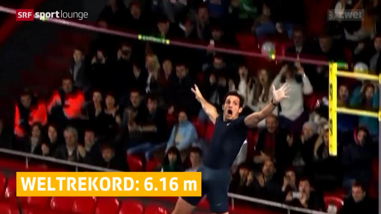 Stabhochsprung: Weltrekordsprung von Renaud Lavillenie
