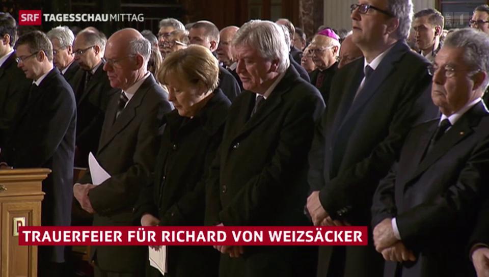 Trauerfeier für Richard von Weizsäcker
