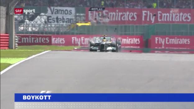 Video «Reifen-Debakel: Boykottdrohung der F1-Fahrer» abspielen