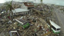 Video «Dronenaufnahmen zeigen die Verwüstung des Taifuns (ohne Ton)» abspielen