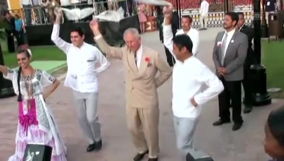 Prinz Charles in Mexiko: Er hat den Rhythmus im blauen Blut