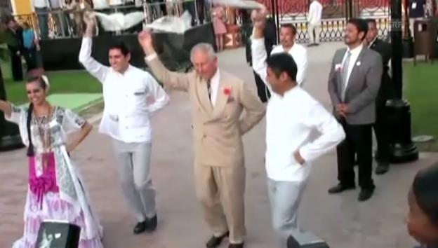 Video «Prinz Charles in Mexiko: Er hat den Rhythmus im blauen Blut» abspielen