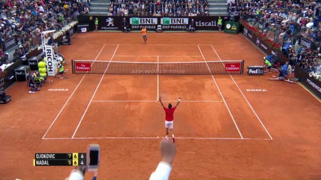 Video «Wahnsinns-Satzball sticht heraus: Highlights Djokovic-Nadal (SNTV)» abspielen