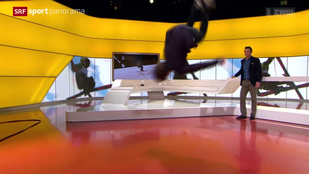 Wie macht man einen Salto? Fabian Bösch zeigt es