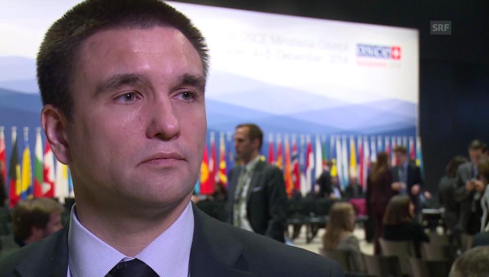 Pawlow Klimkin im Gespräch mit SRF
