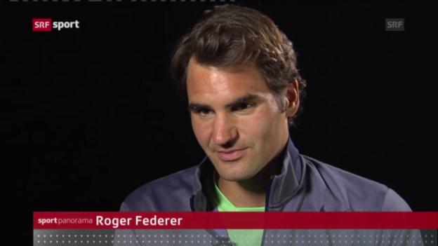 Video «Roger Federer in Madrid («sportpanorama»)» abspielen