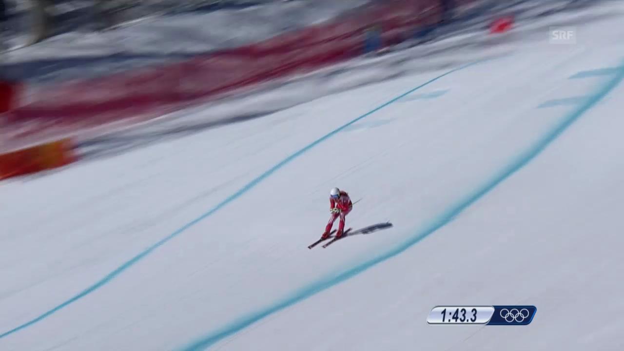 Ski Alpin, 1. Abfahrtstraining, Fahrt von Carlo Janka («sotschi direkt», 6.2.2014)