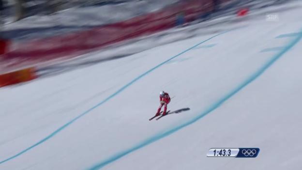 Video «Ski Alpin, 1. Abfahrtstraining, Fahrt von Carlo Janka («sotschi direkt», 6.2.2014)» abspielen