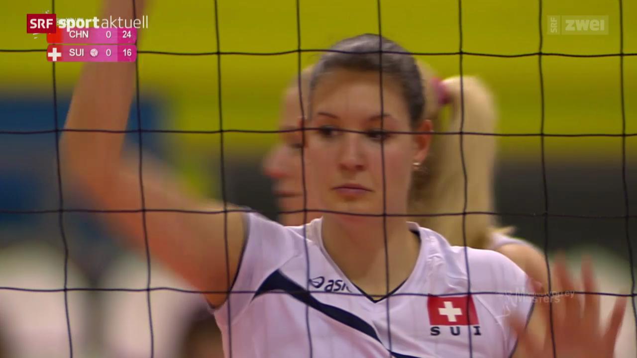 Volleyball: Masters in Montreux mit Schweiz - China