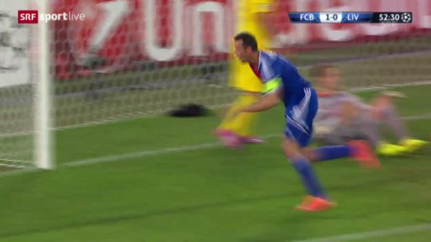 Video «Strellers Tor gegen Liverpool» abspielen